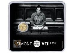 2 euro Frankrijk 2018 Simone Veil Bu in blister  Voorverkoop*