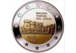 2 Euro Malta 2018  Mnajdra tempel Unc met F in ster Voorverkoop*