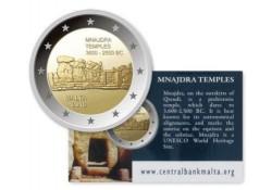 2 Euro Malta 2018  Mnajdra tempel Bu  in coincard