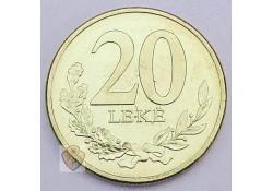 Albanië 2016  20 Leke unc
