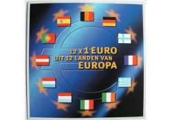 2002  12X 1 euro mix jaren