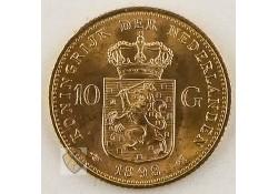 10 Gulden 1898 Wilhelmina Goud Pr- P Pander