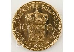 10 Gulden 1933 Wilhelmina Goud
