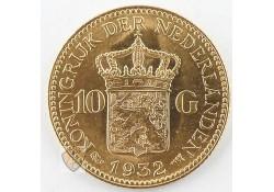10 Gulden 1932 Wilhelmina Goud