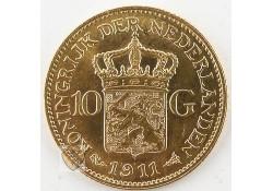 10 Gulden 1911 Wilhelmina Goud
