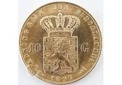 10 Gulden 1897 Wilhelmina Goud Parels Los