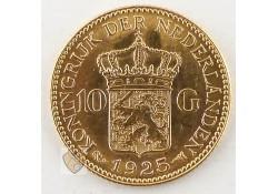 10 Gulden  Wilhelmina Goud B Diadeem onder de I