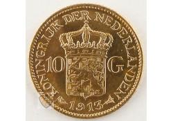 10 Gulden 1913 Wilhelmina Goud