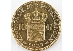 10 Gulden 1927 Wilhelmina Goud