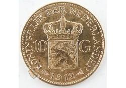 10 Gulden 1912 Wilhelmina Goud