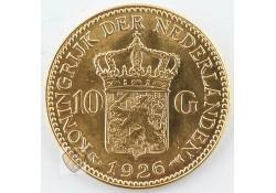 10 Gulden 1926 Wilhelmina Goud