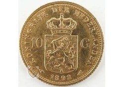 10 Gulden 1898 Wilhelmina Goud