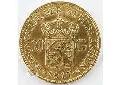 10 Gulden 1917 Wilhelmina Goud