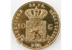 10 Gulden 1875 Willem III Goud Zf