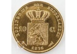 10 Gulden 1876 Willem III Goud
