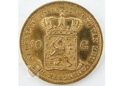 10 Gulden 1833 Utrecht goud Willem I Pr-