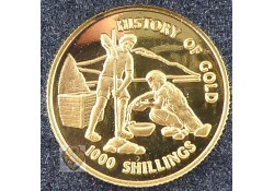 Tanzania 1998  1.000 Tanzaniaanse shilling Goud