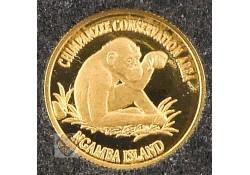 Uganda 1999 1000 Shilling Goud