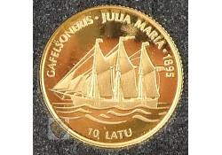 Letland 1997 10 Lats Goud