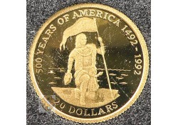 Cook Islands 1995 20 Dollar Goud
