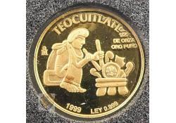 Mexico 1999 2 Pesos goud Azteken