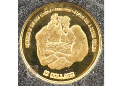 Niue 1999 10 Dollar Goud For a better world