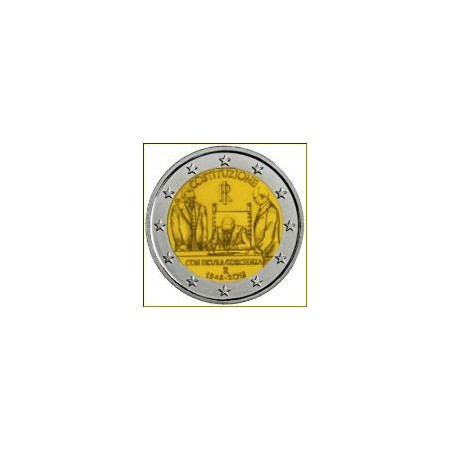 2 Euro Italië 70 jaar Italiaanse Grondwet in Coincard