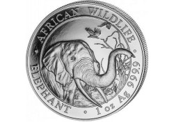 Somalië 2018 100 Shillings 1 Ounce zilver Proof Olifant