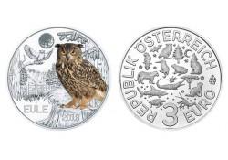 Oostenrijk 2018 3 euro Uil Unc