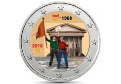 2 Euro België 2018 '50 jaar mei 1968' Gekleurd