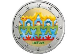 2 Euro Litouwen 2018 Zang en dansfestival Gekleurd