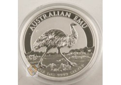 Km ??? Australië 1 Dollar Emu 2018 1 Ounce Zilver Proof