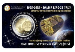 2 Euro België 2018 '50 jaar Esro Bu in coincard Vlaams