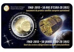 2 Euro België 2018 '50 jaar Esro Bu in coincard Waals