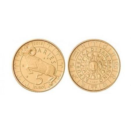 San Marino 2018 5 Euro Zodiac-Ram Unc Voorverkoop*