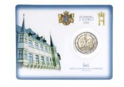 2 Euro Luxemburg 2018 150 Willem I Bu in blister met muntteken Servaas