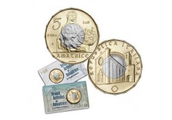 Italië 2018 5 euro Tesori Artistici di Amatrice in coincard