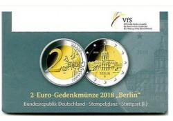 2 Euro Duitsland 2018 F Charlottenburg Berlijn in coincard