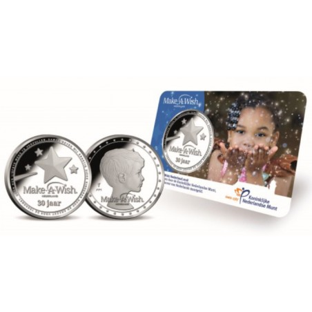Nederland 2019 Penning Make a Wish in coincard