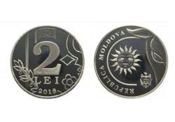 Moldavië 2018 2 Leu Unc