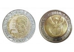 Zuid Afrika 2018 5 Rand Unc Nelson Mandela 100 jaar