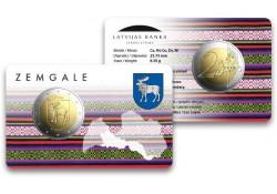2 Euro Letland 2018 Zemgale Bu in coincard