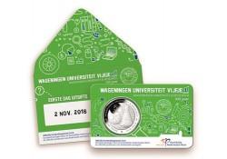 Nederland 2018 5 Euro Universiteit Wageningen 1e dag uitgifte in coincard Voorverkoop*