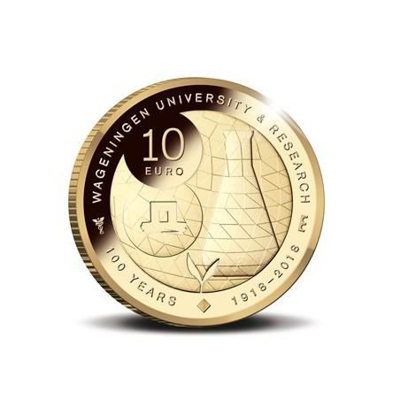 Nederland 2018 10 Euro Universiteit Wageningen goud Proof  Voorverkoop*