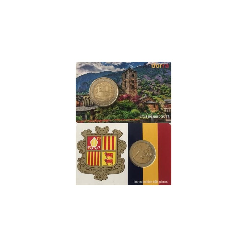 2 Euro Andorra 2017 Unc in Coincard