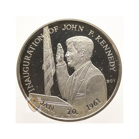Penning Inaugration of thr 35th President John F. Kennedy 20-1-1961 Zilver