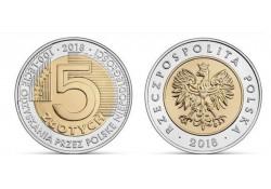 Polen 2018 5 Zlote Unc 100 jaar onafhankelijkheid