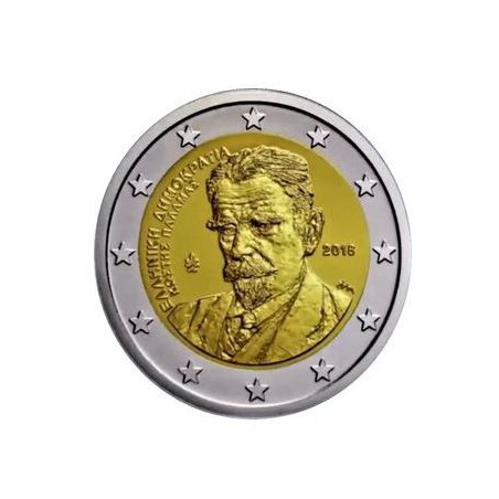 Griekenland 2018 2 euro Kostis Palamas Unc Voorverkoop*