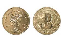 Polen 2004 2 Zlote Warschau opstand Unc
