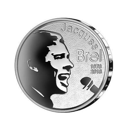 België 2018 10 euro 'Jaques Brel' Zilver Proof Voorverkoop*